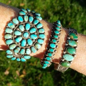 Vintage Native American Turquoise Sterling Silver
